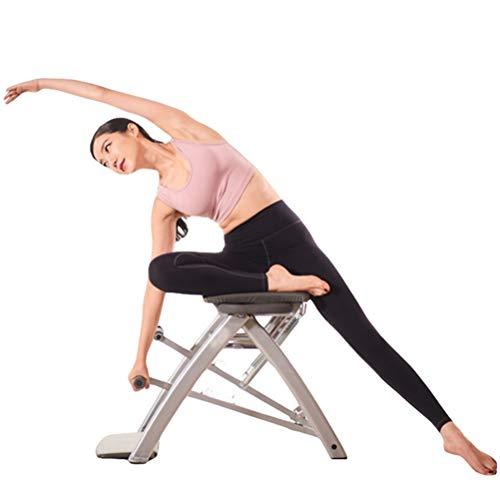 BLWX LY Pilates Iyengar Yoga-Hilfe-Stuhl, verstellbare Falten Start Multifunktionskernkraftaufbau Hocker, 4 Möglichkeiten, Bewegung, Sportstudio im Haus