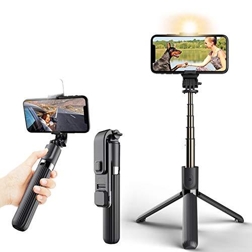 bluetooth selfie stick with fill light