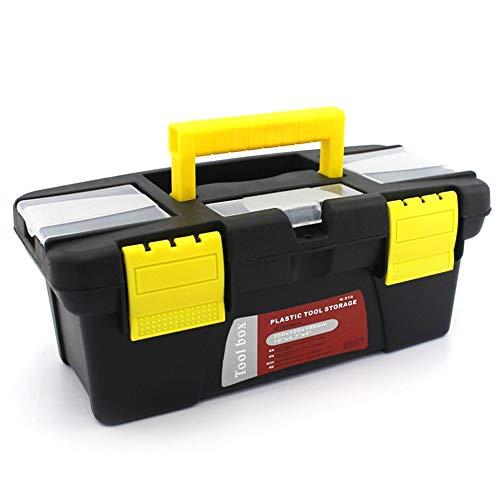 Caja de herramientas de plástico portátil para el hogar de tamaño pequeño multifunción mantenimiento caja de herramientas de almacenamiento de coches caja anti-caída