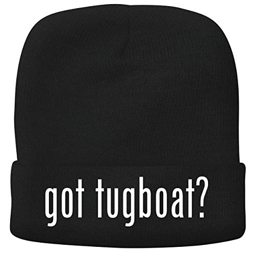 BH Cool Designs got Tugboat? - Adult Comfortable Fleece Lined Beanie, Black