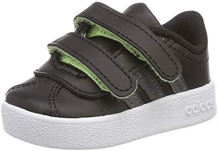 adidas VL Court 2.0 CMF I, Zapatillas de Estar por casa Unisex niños, Multicolor Negbás Gricin Amalre 000, 19 EU