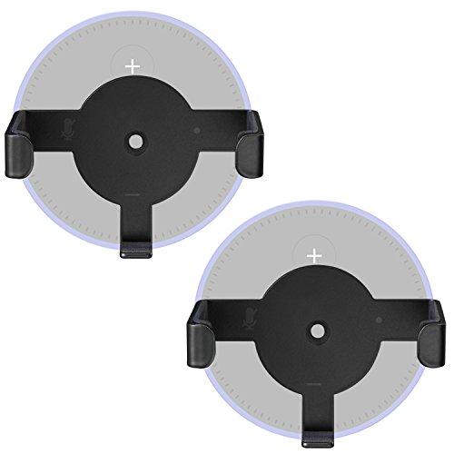 Metal Wall Mount Echo Dot 2nd Generation Holder Bracket Case Stand for Smart Home Speaker Assistant (SWM-EH-02B), 2 Packs, Black by WALI
