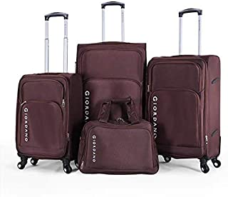 Giordano luggage - 975232 soft case trolley 3 pcs set with beauty case with 4 wheel