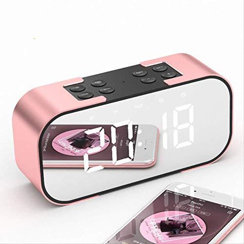 LUCYYY Reloj Despertador Altavoz Bluetooth Mesa electrónica Digital Función de repetición portátil Relojes de Mesa Modernos
