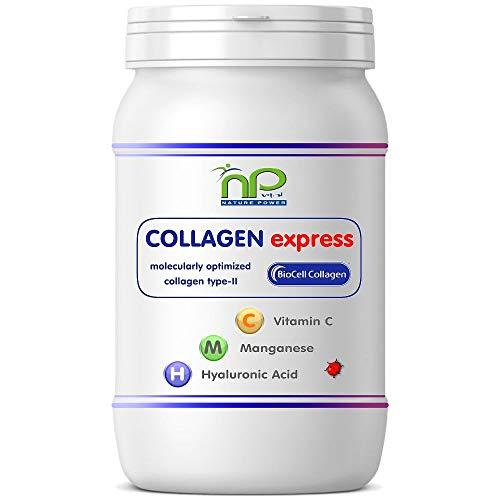 Collagen Express of Biocell Collagen® Capsules (met collageen-II, hyaluronzuur, vitamine C en mangaan) 1000 mg collageen/dag voor huid, haar, gewrichten door NP-Vital (1x60 Collagen Express capsules)