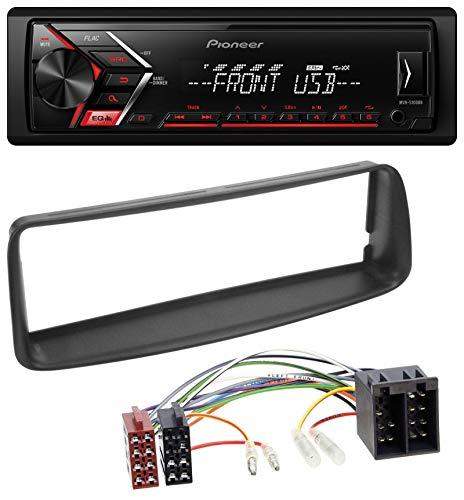 caraudio24 Pioneer MVH-S100UB USB AUX MP3 1DIN Autoradio für Peugeot 206 (ab 1998)