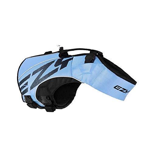 EzyDog X2 Boost-Schwimmweste für Hunde, Größe L, Blau
