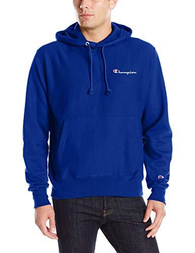 Champion Life Herren Reverse Weave Script Pullover Hoodie - Blau - XX-Large