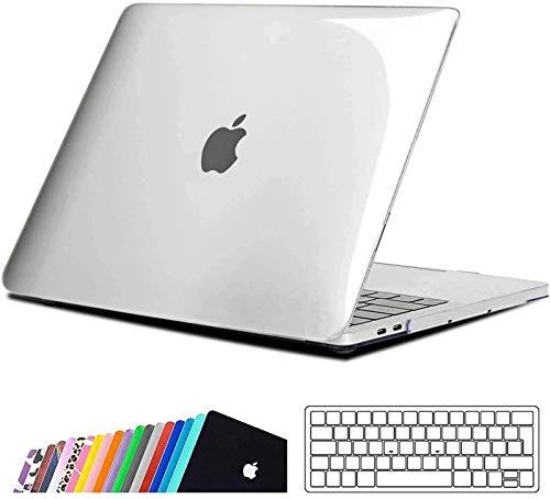 iNeseon Hülle für MacBook Pro 13 (2019 2018 2017 2016 Freisetzung), Plastik Hartschale Case Schutzhülle und Tastaturschutz für MacBook Pro 13 Zoll (A2159 A1989 A1708 A1706), Kristall transparent