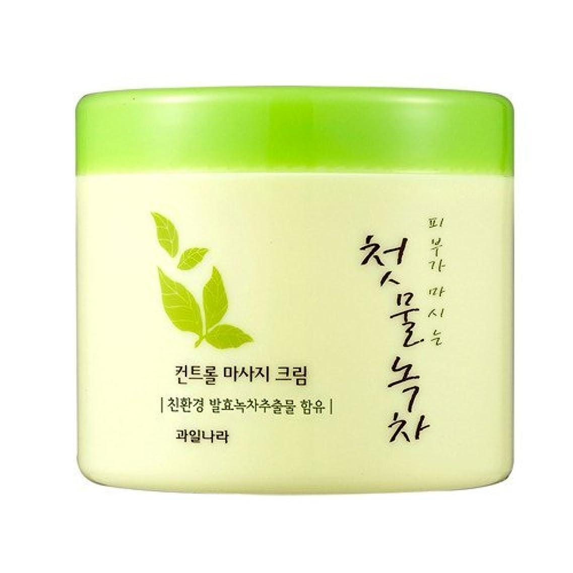 つぼみ覗くが欲しいwelcos[ウェルコス] コントロールマッサージクリーム300ml/First Green Tea Control Massage Cream 300ml [並行輸入品]