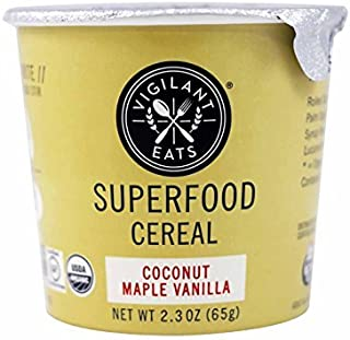 Vigilant Eats Superfood Oats Cereal, Coconut Maple Vanilla, 2.3 Ounce (Pack of 12)