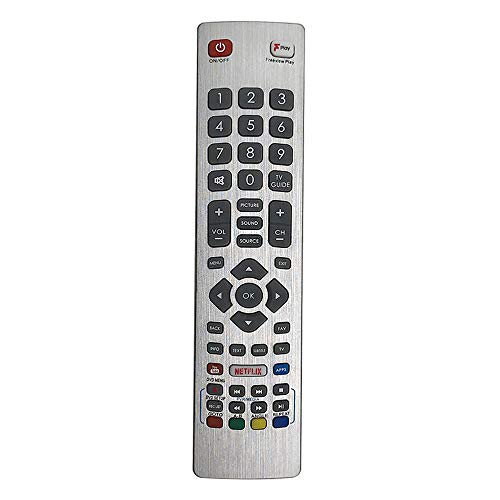 MYHGRC Fernbedienung SHW/RMC/0121 für Fernbedienung Sharp Aquos Smart UHD 4K 3D LCD LED TV LC-24DHG6001KF LC-32FI5342KF LC-32FI5442KF LC-37B20E LC-37DH66E LC-37G20E LC- LC-40FI5442KF 46LU705E