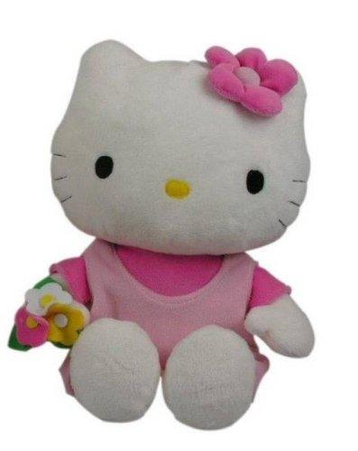 Hello Kitty - 021498 - Jouet Premier Age - Peluche - Classic - Pantin - Habillage Rose - 27 cm