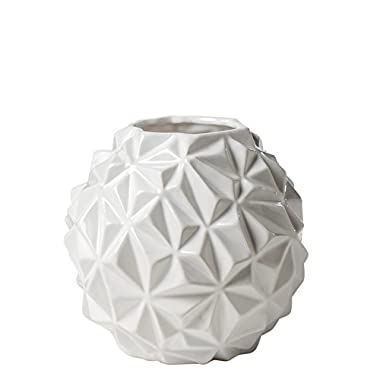 Torre & Tagus 902369B Crumple Ball Vase, Large, White