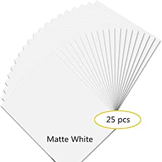 Premium Printable Vinyl Sticker Paper for Your Inkjet Printer - 25 Matte White Waterproof Decal Paper Sheets - Dries Quickly and Holds Ink Beautifully