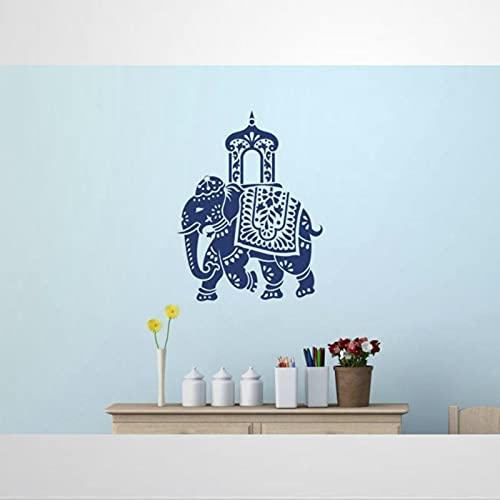 Decorado Boda Elefante Real Indio Elefante Festival de Rajasthan Adhesivo de Pared Adhesivo Extraíble DIY Arte Decoración de Pared Mural Arte de la Pared Decoración del Hogar Bi270