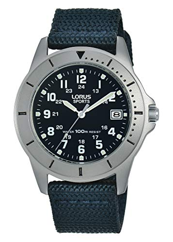 Lorus Sport Damen-Uhr Edelstahl mit Textilband RS937DX9