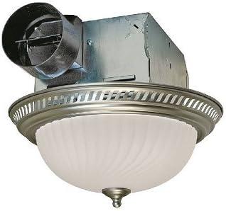 Air King Drlc702 Round Bath Fan With Light Nickel Ceiling Fan Light Kits Amazon Com
