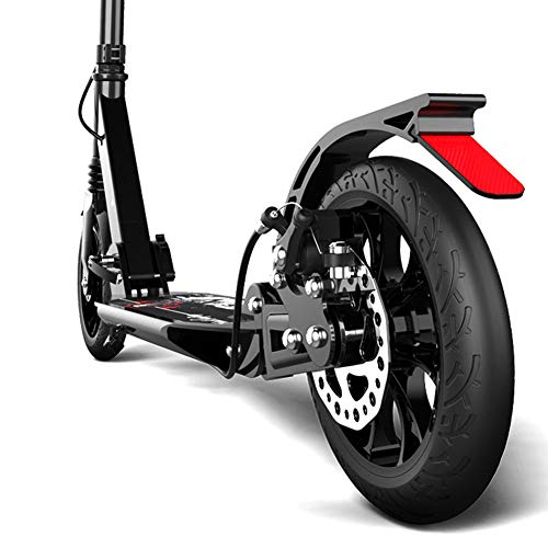 Patinete- Scooter Plegable para Adultos Scooter: 2 Ruedas Grandes De PU para Niños De 190 Mm Scooter, Altura Ajustable (no...
