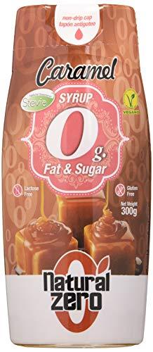 Natural Zero Sirope 0 Calorías-Sin Grasas-Sin Azúcar-300 gr Syrup Caramelo, 1 Unidad