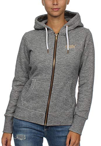 Superdry Damen Sweatjacke Orange Label Elite grau (231) XS