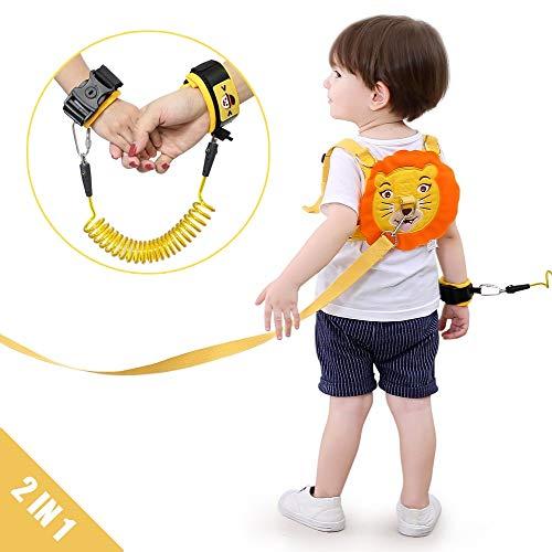 Lehoo Castle Guinzaglio per bambini per passeggiate, Imbracature di sicurezza per bambini Guinzagli per bambini, Imbracatura di sicurezza per bambini, Cinture di sicurezza anti-polso(Arancione)