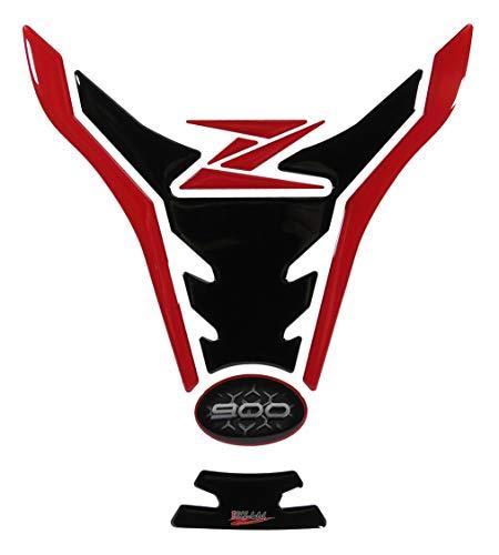 BIKE-label Protector de depósito 3D rojo y negro, compatible con Kawasaki Z900 502933-VA