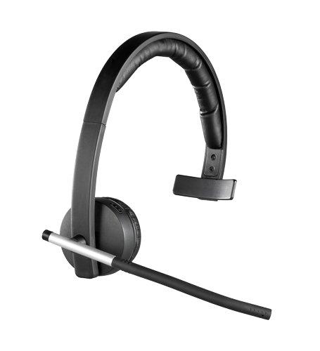 Logitech H820e Kabellose Kopfhörer mit Mikrofon, Bluetooth, Mono-Headset, Rauschunterdrückung und Flip-Stummschalter, Bedienelemente, LED-Anzeige, USB-Anschluss, PC/Mac/Laptop/Tablet/Smartphone