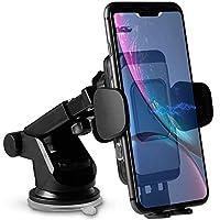 車載 Qi ワイヤレス充電器 車載 ホルダー (2019年最新改良版)コイルセンサー 自動に閉じ 勝手に開けず 10W/7.5W 急速ワイヤレス充電器 車載スマホホルダー 粘着式&吹き出し口両用 360度回転 スマホスタンド iPhone X/XR/XS/XSMAX/8/8 Plus/Galaxy S9/S8/S8 Plus/S7/S7 Edge/S6/S6 Edge/Note 8/Note 5/Nexus 5/6等に適用ワイヤレス充電機種に対応 日本語説明書付き