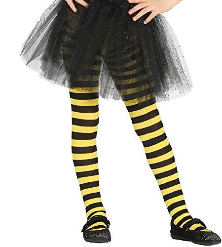 Fiestas Guirca kinderpanty gestreept zwart geel eenheidsmaat ca. 110-134.