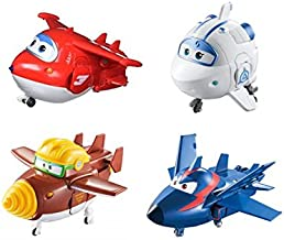 Super Wings US730204 Transforming Toy Figures, Jett Todd Astra & Agent Chase, Scale, 5