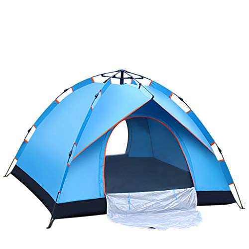 FREEDOL Automatic Hydraulic Opening Tent, Rainproof And Sunproof Tent for 3-4 Persons, Family Camping Tent for Outdoor Camping-210 * 200 * 140Cm,Blue