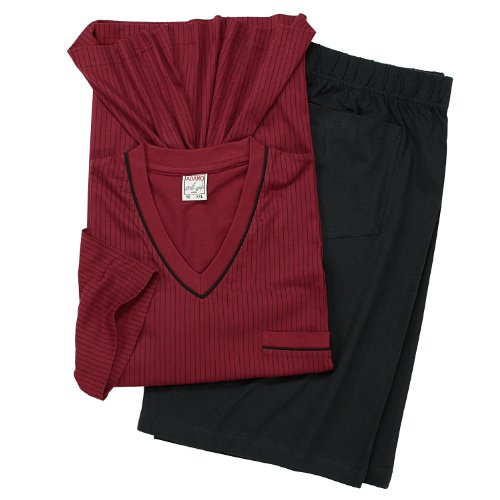 Pyjama mit kurzer Hose von Adamo, bordeaux, Größe:3XL