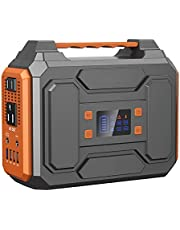 Portable Power Station 300W,Solar Outdoor Generators 280Wh/75000mAh,Lithium Battery Backup power source with Flashlight,inverter generator with DC AC Outlet for Home Use Camping RV Travel Emergency