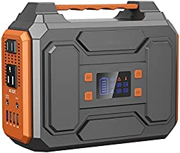 Portable Power Station 300W,Peak 600W Solar Outdoor Generators 280Wh/75000mAh,CPAP Lithium Battery Backup with Flashlight,inverter generator with DC AC Outlet for Home Use Camping RV Travel Emergency