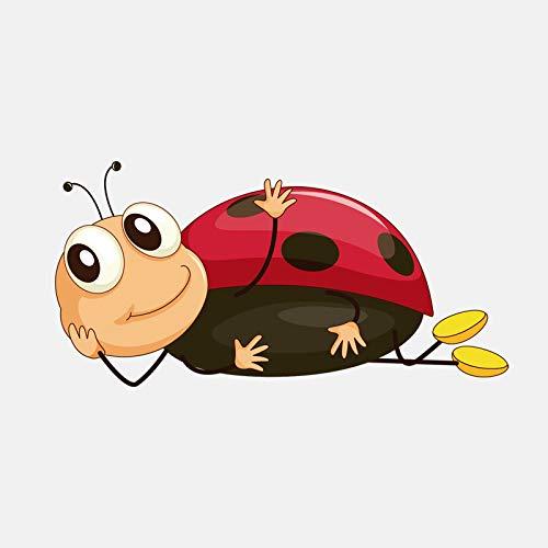 Divertidas pegatinas Interesting Lie Ladybug Car Sticker Accesorios Exterior Calcomanías 14 cm x 7 cm (Tamaño: 14 cm x 7 cm)