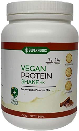 Proteína Vegana De Amaranto Super Reforzada Mix 500g Sabor Canela, 100% Natural, Libre de químicos y conservadores....