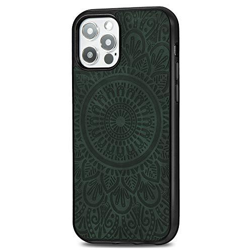 Adecuado para Apple iPhone 12pro Funda Magnética MagSafe Mandala cuero 11max Funda protectora marrón, rojo grande, azul oscuro, verde, negro, oro rosa