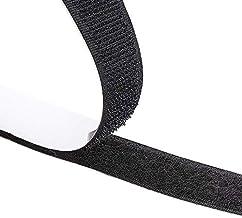 Klittenband, zelfklevend, extra sterk, zwart, 2 cm breed, lus- en haakband, 5m