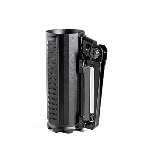 Honestill Tactical Beer Mug, Outdoor Sport Solid Beer Cup Multifunction Aluminum Detachable Carry Battle Rail Mug with Rear Sight Handle