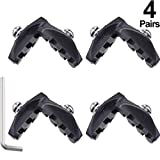 Road Brake Pads with Installation Tool Caliper Brake Blocks 50 mm (4 Pairs)