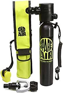 Spare Air Original Mini Scuba Tank - 3 cu ft Dive Cylinder - Made in USA-DOT Marked Tank with Holster, Leash, Refill Adapter