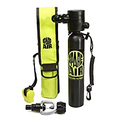 professional Replacement Air Original Mini Scuba Tank – 3 cu ft Diving Tank – USA-Manufactured with DOT Marked Cylinder,…