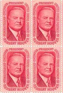 Herbert Hoover Set of 4 x 5 Cent US Postage Stamps NEW Scot 1269