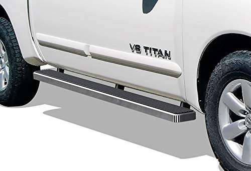 APS iBoard (Silver 5 inches) Running Boards Nerf Bars Side Steps Step...