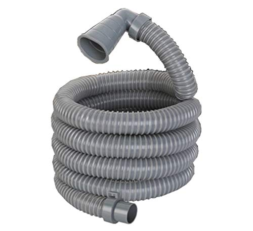 13ft Long Replacement Washing Machine Drain Discharge Hose, heavy-duty 90 degree Elbow with 2 clamps,4 Meter Length, Right Angle heavy-duty