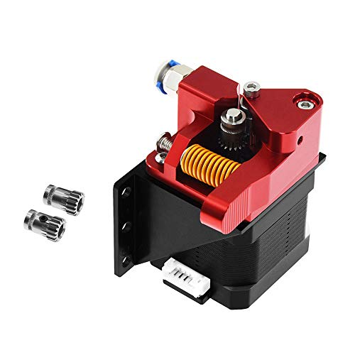 Sunhokey Dual Gear Extruder, Aluminum Dual Drive Extruder Upgrade Kit, Compatible with Creality Ender 3 CR10 CR-10 Pro CR-10S, Drive Feed for 3D Printer 1.75mm Filament