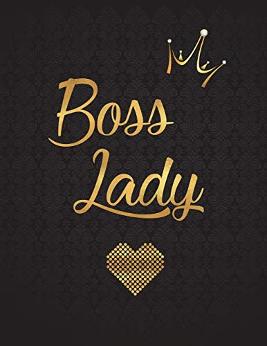 Boss Lady: Lined Journal (Notebook, Diary) with 110 Inspirational Quotes, Gold Lettering Cover, XL 8.5x11, Black Soft Cover, Matte Finish, Journal for Women (Journals to Write In)
