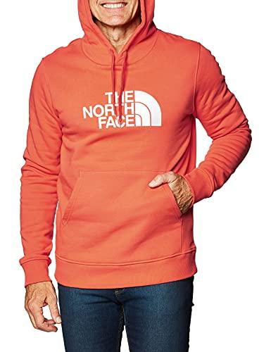 The North Face - Felpa con Cappuccio Uomo TNF Drew Peak - XL, Rosso
