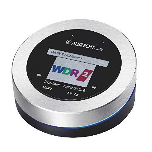 Albrecht DR 50 B, DAB+/UKW Digitalradio-Tuner und Bluetooth Empfänger, mit Farbdisplay und Touchscreen, Farbe: schwarz